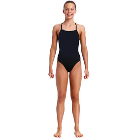 Funkita Strapped In One Piece Swimsuit Girls, still black solid